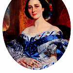 French artists - Deveria Eugene Francois Marie Joseph Portrait De Marie - Lucie De Selle De Beauchamp