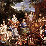 French artists - NOCRET Jean The Family Of Louis XIV