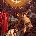 French artists - Tintoretto Domenico The Baptism Of Christ