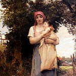 French artists - Laugee Georges A Mother Holding Her Child