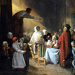 French artists - Biard Francois Auguste THE SERMON