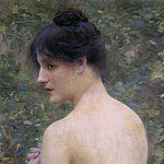 French artists - Collin Louis Joseph Raphael The Beauty Portrait