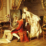 French artists - Metzmacher Emile Pierre The Artist And His Admirer