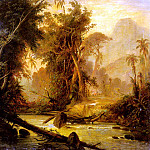 French artists - Bellerman Ferdinand A Tropical Forest In Venezuela
