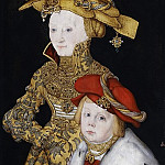 Lucas Cranach the Elder – Portrait of a Lady and her Son