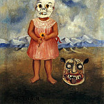 Frida Kahlo - Girl with Death Mask