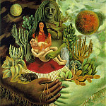 Frida Kahlo - The Love Embrace of the Universe, the Earth (Mexico), Me, Diego and Xolotl (2)
