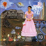 Frida Kahlo - Self-Portrait on the Border Line Between Mexico and the United States
