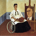 Frida Kahlo - 1951 Self-Portrait with the Portrait of Doctor Farill