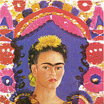 Frida Kahlo - Autoportrait the frame