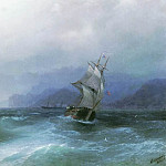 Sailing in the sea 1884 42x64, Ivan Konstantinovich Aivazovsky