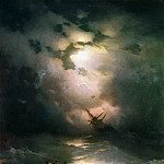 Storm in the North Sea in 1865 269h195, Ivan Konstantinovich Aivazovsky