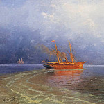 Ivan Konstantinovich Aivazovsky - On the coast of Yalta in 1894 34,5 h58, 3