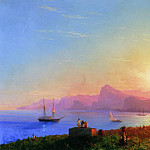 Ivan Konstantinovich Aivazovsky - Sunset at Sea 1856 121,5 h188