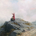 Dante shows the artist in the unusual 1883 cloud 60h102, Ivan Konstantinovich Aivazovsky