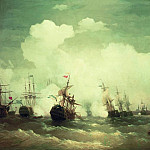 Ivan Konstantinovich Aivazovsky - Sea battle at Revel, May 2, 1790 1846 222h335