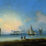 Ivan Konstantinovich Aivazovsky - Russian and French frigates 1858 58h80