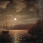 Ivan Konstantinovich Aivazovsky - Moonlit Night on the Black Sea 1855 47h58