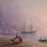 Ivan Konstantinovich Aivazovsky - On the Beach 1878