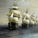 Review of the Black Sea Fleet in 1849, 1886 131h249, Ivan Konstantinovich Aivazovsky