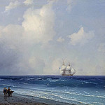 1865 26h33 The sea view, Ivan Konstantinovich Aivazovsky