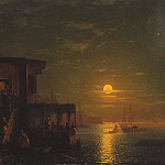 Moonlight at Sea 1875, Ivan Konstantinovich Aivazovsky
