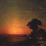 Sunset in Little 124h171 1863, Ivan Konstantinovich Aivazovsky