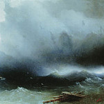 Ivan Konstantinovich Aivazovsky - Hurricane at Sea 1850 120h190