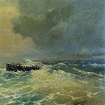 Ivan Konstantinovich Aivazovsky - Before Alupka in the Crimea. Boat at sea 1894 37h55