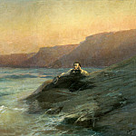 Ivan Konstantinovich Aivazovsky - Pushkin on the Black Sea 1887 212h314