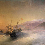 Ivan Konstantinovich Aivazovsky - Get Russian sailors of the Turkish boat and the release of prisoners of Caucasian women in 1880