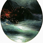 Ivan Konstantinovich Aivazovsky - Death of a ship. The collapse of the merchant vessel on the high seas in 1883 83,5 h75, 5