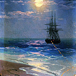 Night at Sea, Ivan Konstantinovich Aivazovsky