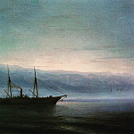 Before the battle. Ship Constantine 1872, Ivan Konstantinovich Aivazovsky
