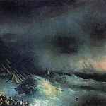 Storm. The collapse of the foreign ship 206h320 1855, Ivan Konstantinovich Aivazovsky