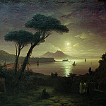 Ivan Konstantinovich Aivazovsky - Bay of Naples by Moonlight 1842 92h141