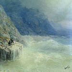 Ivan Konstantinovich Aivazovsky - Rock in the mist 1890 32. 2h26, 7