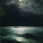 Ivan Konstantinovich Aivazovsky - Night on the Black Sea in 1879 58,5 h69, 5