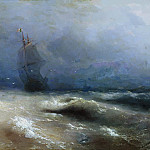 Ivan Konstantinovich Aivazovsky - A storm off the coast of Nice 1885 118h150