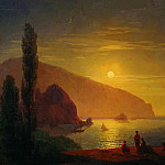 Ivan Konstantinovich Aivazovsky - Night in the Crimea. View on Aju-Dag 1850 63h94
