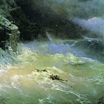 Ivan Konstantinovich Aivazovsky - In the storm of 1899 152h107
