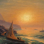 Ivan Konstantinovich Aivazovsky - Sunset at Sea 1899 23h35