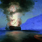 Ivan Konstantinovich Aivazovsky - 1900 ship explosion 67h96, 5 is the latest picture-unfinished.