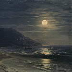 Ivan Konstantinovich Aivazovsky - Yalta. The mountains at night