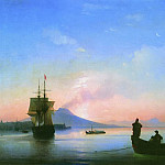 Bay of Naples in the morning 67h100 1843, Ivan Konstantinovich Aivazovsky