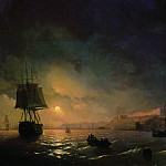 Type of Odessa by Moonlight 1846 122h190, Ivan Konstantinovich Aivazovsky