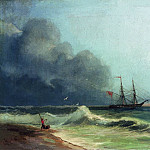 Ivan Konstantinovich Aivazovsky - Sea before the storm 1856 36h48