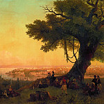 Type of Constantinople in the evening light 120h189 1846, 5, Ivan Konstantinovich Aivazovsky
