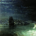 Ivan Konstantinovich Aivazovsky - Night. Tragedy in the Sea of Marmara 1897