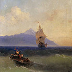 Evening at Sea, Ivan Konstantinovich Aivazovsky